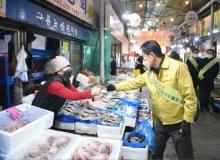 [영주]설맞이 전통시장 장보기 앞장